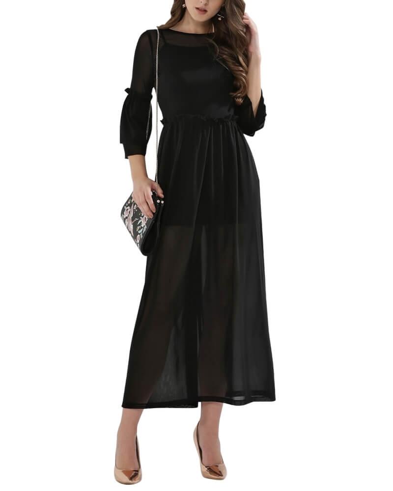 Bold and Beautiful Sheer Maxi Dress