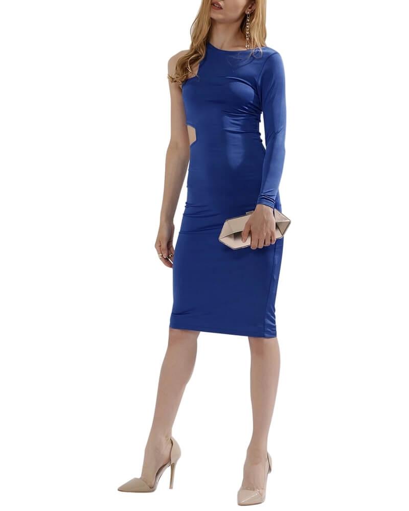 Classic Blue Mid-Riff Bodycon Dress