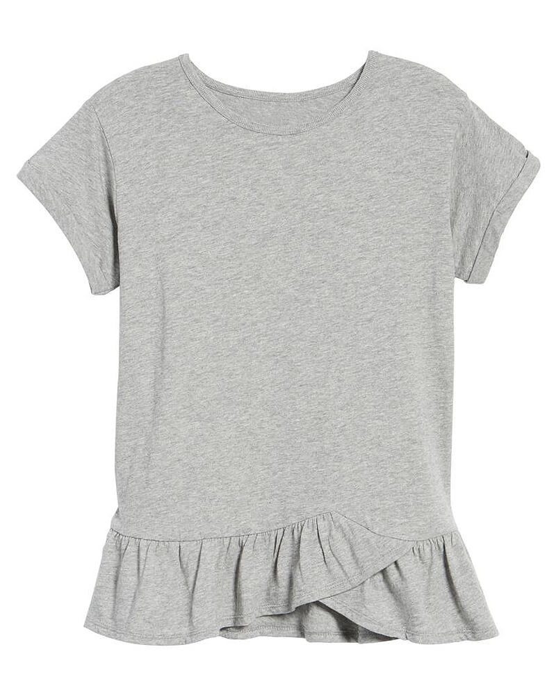 Cute Ruffle Hem Top for women