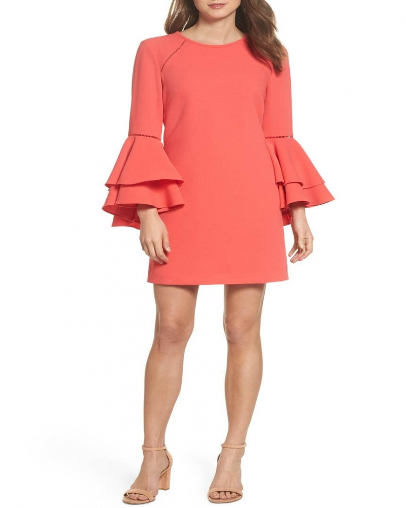 Cute and Smart Bell Sleeved Shift Dress