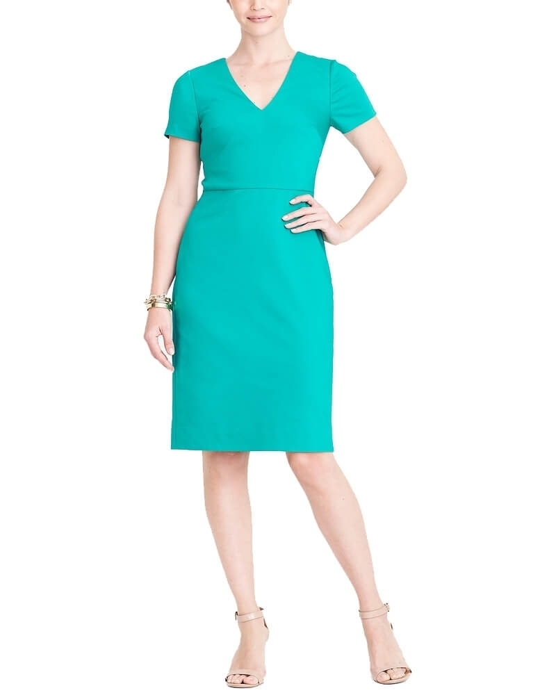 Jade V Neck Waist Fitted Smart Dress