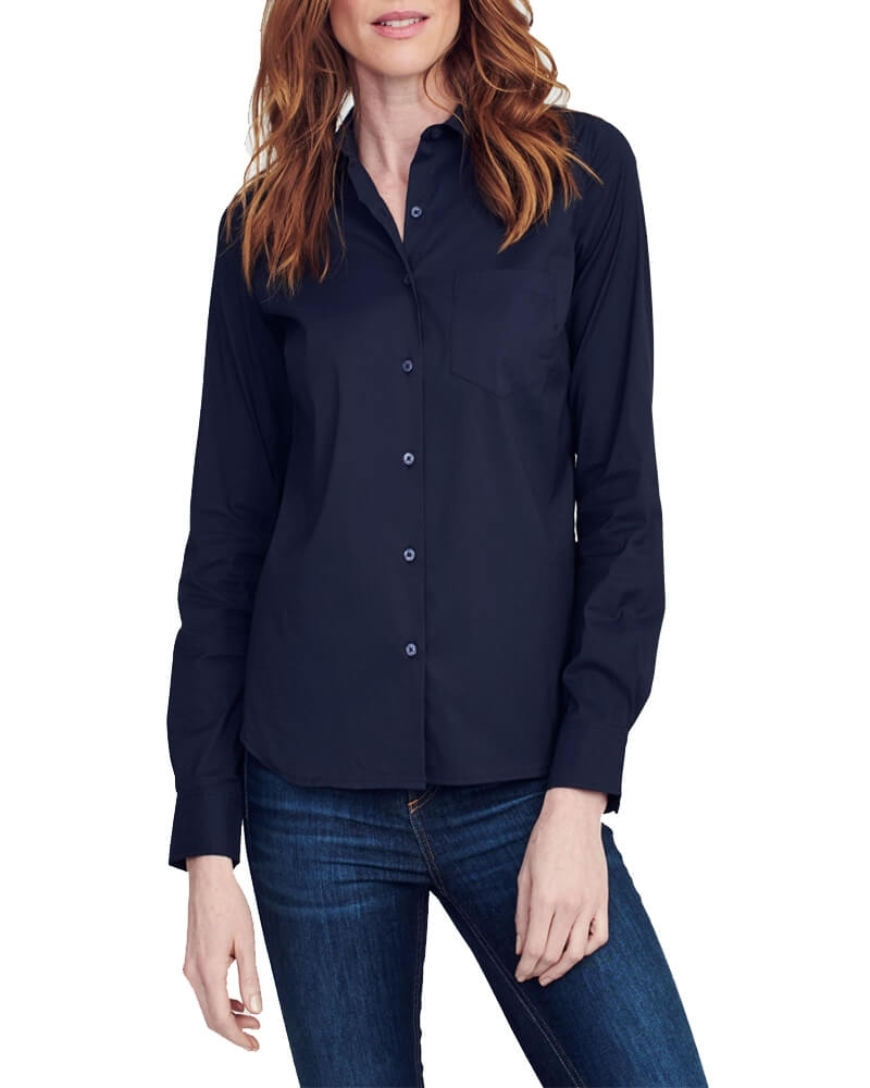 Regular Fit Navy Blue Cotton Shirt