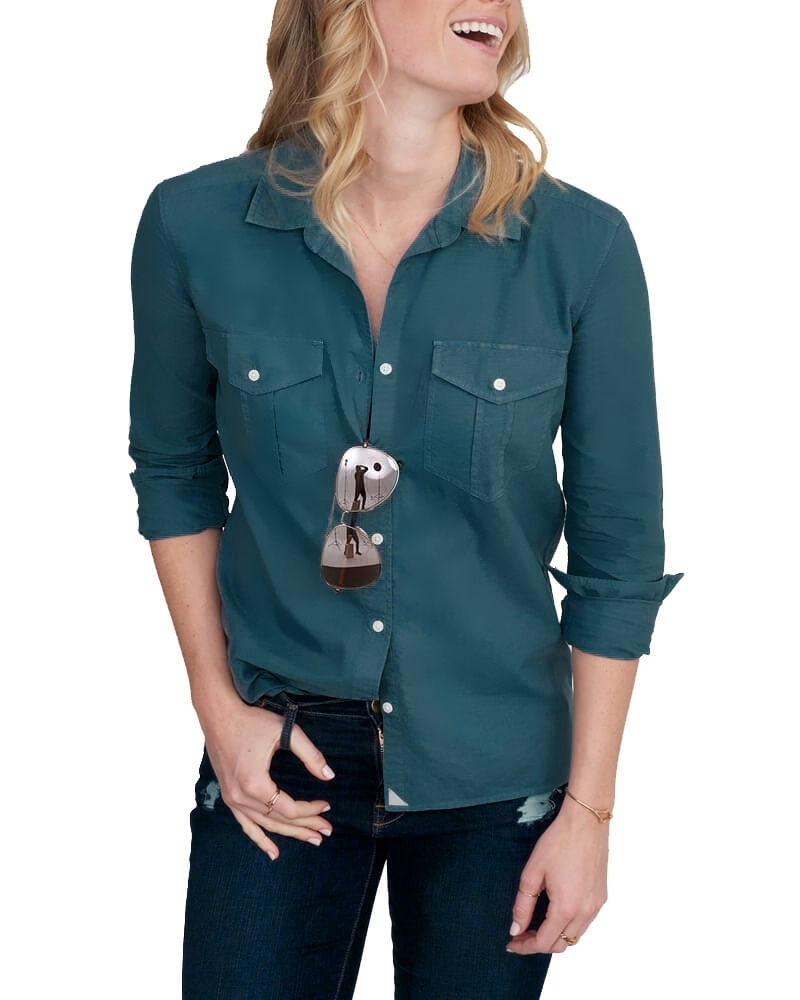 Button Straight Fit Casual Shirt